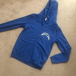 New Blue & Gold CHARGERS Hoody Sweater Medium